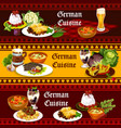 german cuisine traditional food and drinks vector image vector image