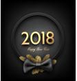 grey 2018 happy new year background vector image vector image