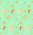 hand drawn sea seamless pattern vector image