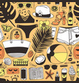 hand drawn summer seamless pattern yellow vector image