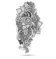 Henna Paisley Mehndi Doodles Abstract Floral vector image