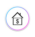 house with dollar icon isolated home and money vector image