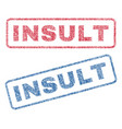 insult textile stamps vector image vector image