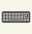 keyboard solid icon computer keypad vector image vector image