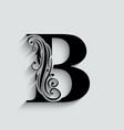 letter b black flower alphabet beautiful capital
