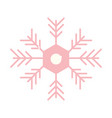 merry christmas snowflake ornament decoration icon vector image vector image