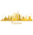 moscow russia city skyline golden silhouette vector image