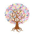music note tree concept nature care vector image vector image