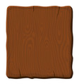 old brown wooden board on white background vector image