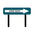 one way icon vector image vector image