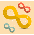 Paper Infinity Symbols Set - vector image vector image