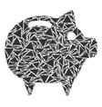 piggy bank mosaic of triangles vector image