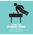 Pommel Horse Gymnastics vector image