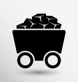 Rail Wagon icon button logo symbol concept vector image vector image