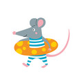 rat in lifebuoy vector image