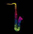 saxophone instrument cartoon music graphic vector image