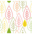 seamless autumn vegetable pattern with abstract vector image vector image