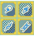 Seamless background with nautical rope knots vector image vector image