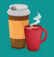 set coffee drinks icons vector image