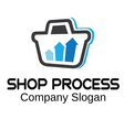 Shop Process Design vector image vector image