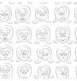 Smile set pattern vector image
