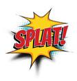 splat comic word vector image vector image