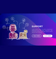 support concept operator call center vector image