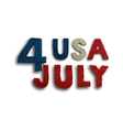 The fourth of July vector image vector image