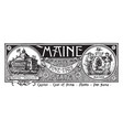 the state banner of maine the pine tree state vector image vector image