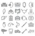 transplantation organ icons set outline style vector image vector image