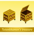 Two magical ancient box from Egypt vector image vector image