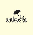 umbrella logo vector image
