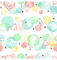watercolor circles pattern vector image vector image