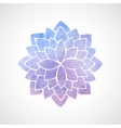 Watercolor lotus flower blue and violet vector image vector image