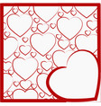 with a pattern of hearts vector image