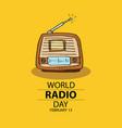 world radio day concept february 13 vector image