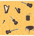 Seamless pattern with musical instruments vector image