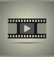 film strip icon video icon vector image