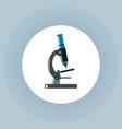 microscope icon on white circle vector image