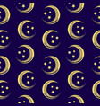 beautiful seamless pattern with moon and stars vector image