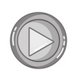 grayscale music symbol design style icon vector image