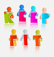 Keep Fit Colorful Paper Slogan - Title vector image