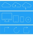 modern flat technology icons set vector image