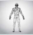 abstract dotted human body on white background vector image