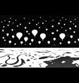air balloons flying in night vector image vector image