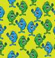 angry monster pattern vector image