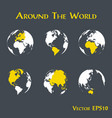 around the world vector image
