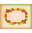 Autumnal frame vector image vector image