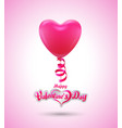 balloon heart for love event poster and card vector image vector image