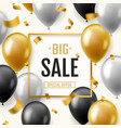 balloons sale banner floating balloon advertising vector image
